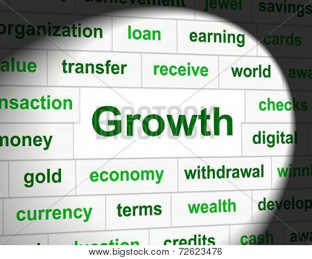 Finances Growth Represents Rise Commerce And Investment