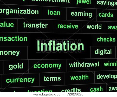 Finance Inflation Means Investment Growing And Earnings