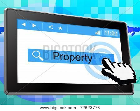 Property Online Shows World Wide Web And House