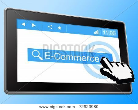 E Commerce Means World Wide Web And Bought