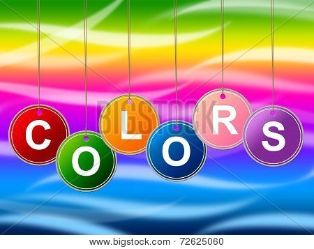 Colors Color Represents Painted Colours And Colorful