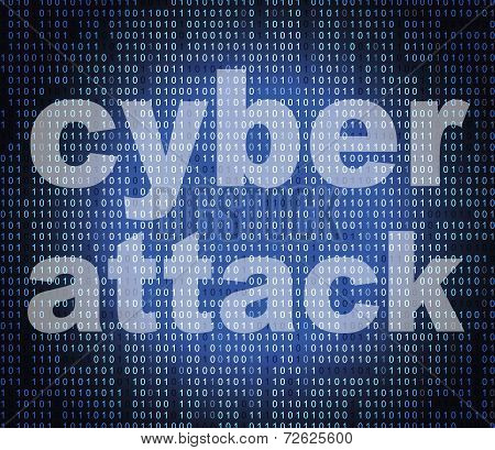 Cyber Attack Represents World Wide Web And Criminal