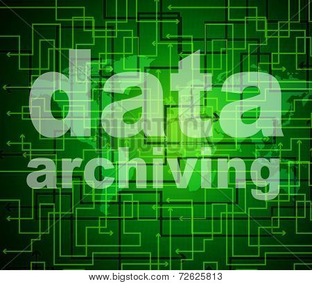 Data Archiving Shows Library Catalog And Backup