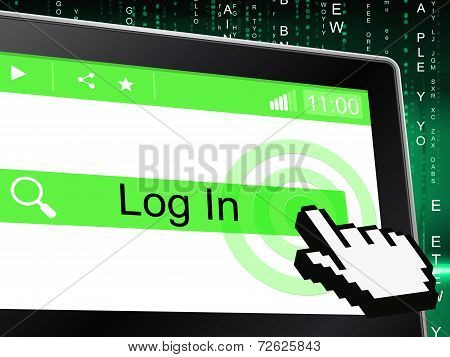Log In Indicates Sign Up And Apply
