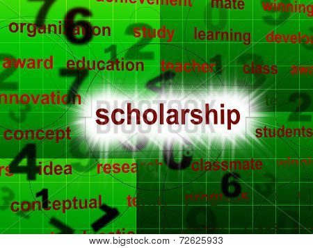 Education Scholarship Shows School Training And Schooling