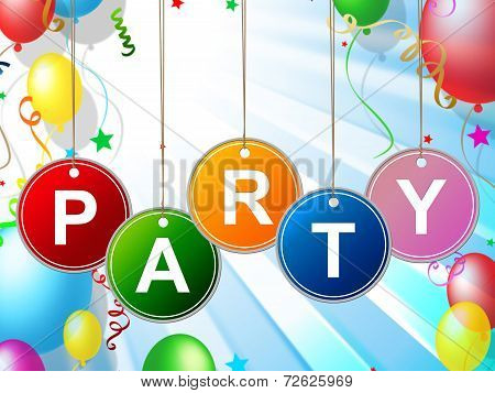 Party Kids Means Toddlers Celebration And Childhood