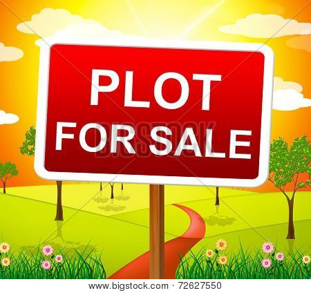 Plot For Sale Indicates Real Estate Agent And Acres