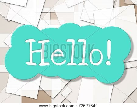 Hello Sign Shows How Are You And Greetings