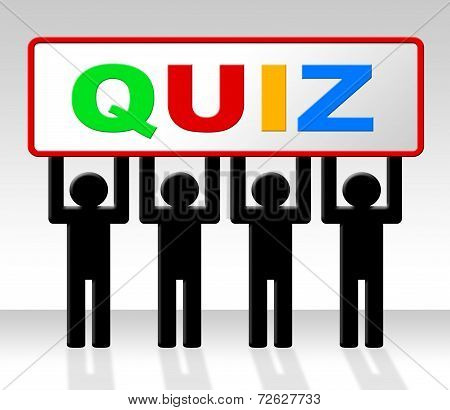 Exam Quiz Indicates Questions And Answers And Examination
