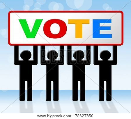 Poll Vote Represents Decisions Elect And Evaluation