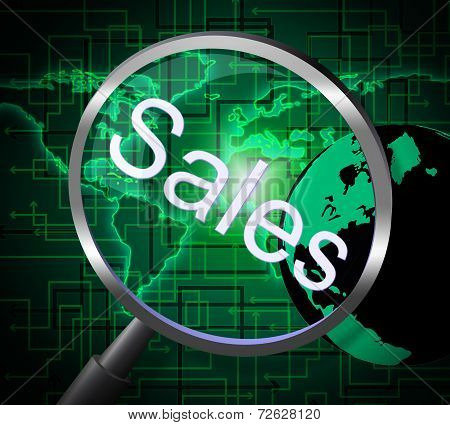 Sales Magnifier Means Promotion Sell And Magnify