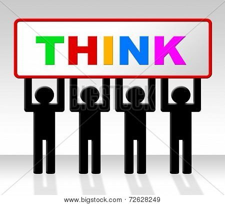 Think Thinking Shows Consider Concept And Contemplate