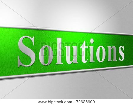 Sign Solution Indicates Goal Success And Solving