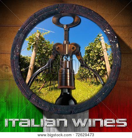 Italian Wines - Wooden Barrel