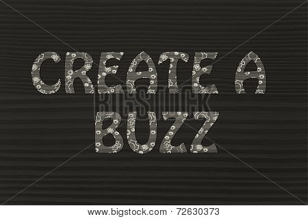 Create A Buzz Writing With Glowing Gearwheels Pattern