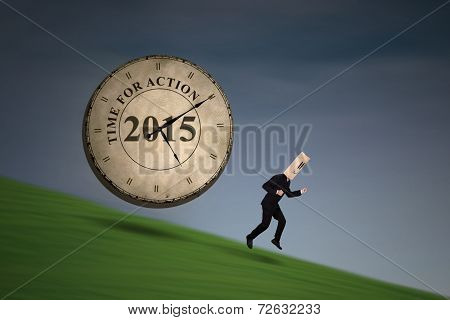 Businessman Run Down From A Hill