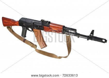 Kalashnikov Ak Isolated On A White Background