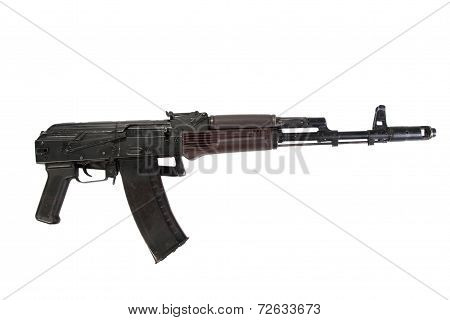 Airborne Assault Rifle Aks 74 Isolated On A White Background