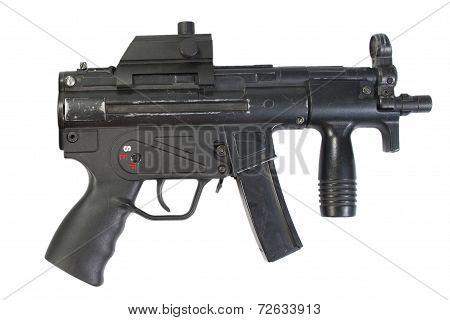 German Modern Submachine Gun Isolated
