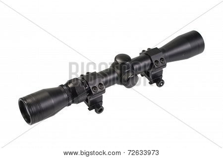 Rifle Scope Isolate On White