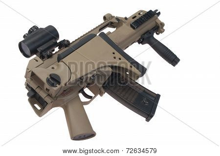 Bundeswehr Assault Rifle G36 Isolated On White Background