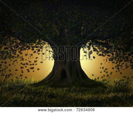 Fantastic tree at night