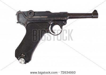 P08 Parabellum Handgun Isolated
