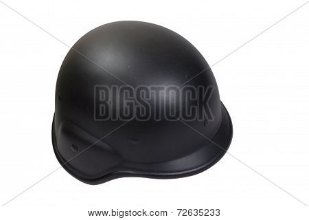 Army Kevlar Helmet Isolated On White