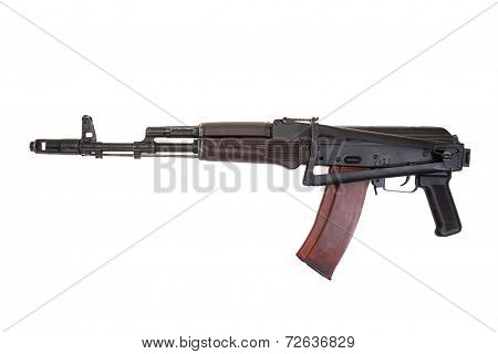 Kalashnikov Airborne Rifle Ak74 Isolated On A White Background