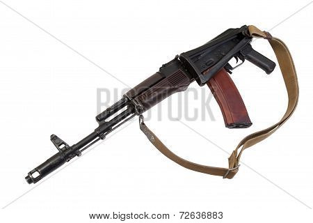 Kalashnikov Airborne Rifle Isolated On A White Background