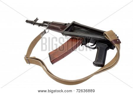 Kalashnikov Rifle Ak74 Isolated On A White Background