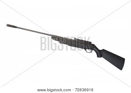 Pneumatic Air Rifle Isolated On White Background