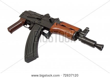 Aks74U Isolated On A White Background