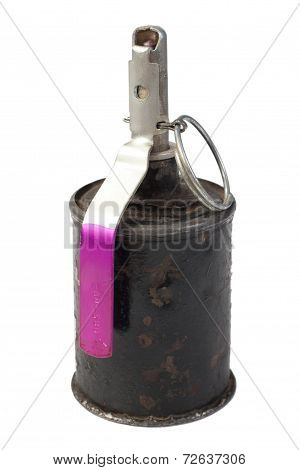 Wwii Hand Grenade Isolated On A White Background