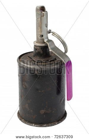 Old Hand Grenade Isolated On A White Background