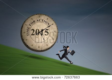 Woman Is Chased By A Clock