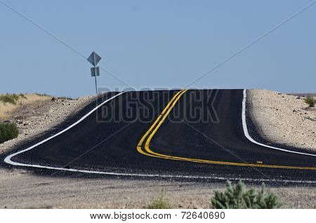 New Blacktop In The Desert