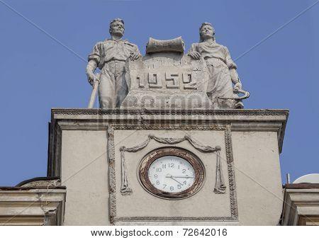 Monument of Soviet architecture in Kharkov.