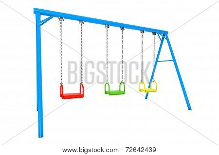 Children Colorful Playground Swing