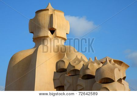 Chimney On Casa Mila (detail) Iii