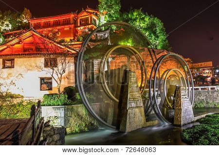 Watermill In Lijiang