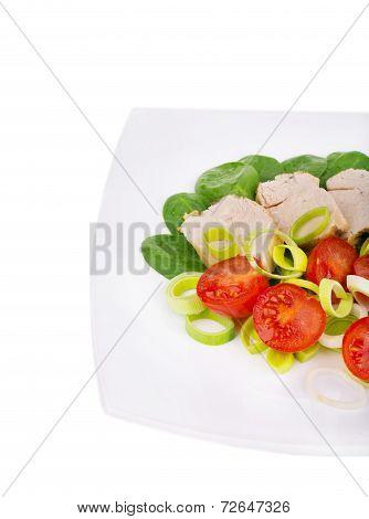 Close up of healthy salad.