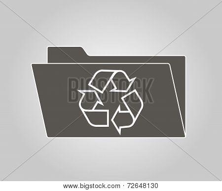 Grey computer icons set reusable. Vector EPS.