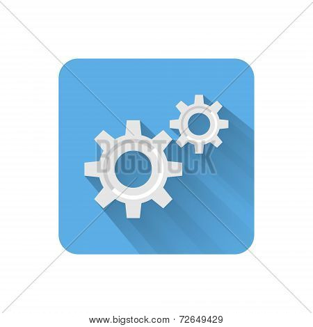 Flat Settings Icon. Vector Illustration