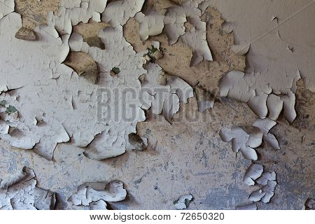 Old Cracked And Dilapidated Wall Of The Building