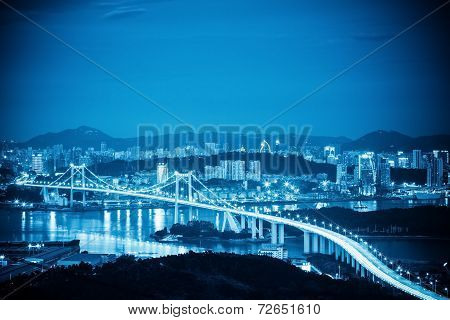 Xiamen Haicang Bridge At Night