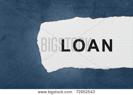 Financial Loan With White Paper Tears