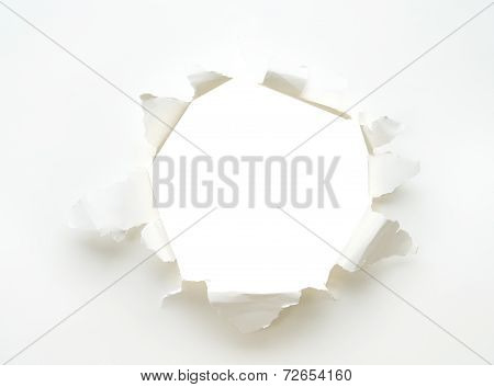 Hole White Empty Paper Poster