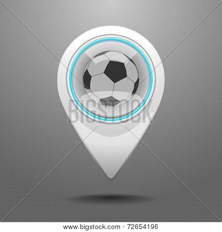 Glossy Football Stadium Icon