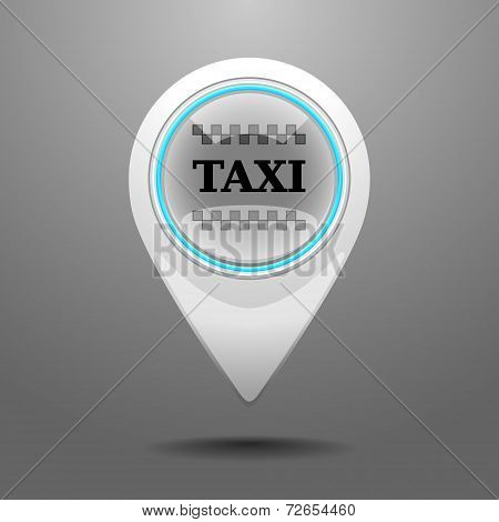 Glossy Taxi Icon
